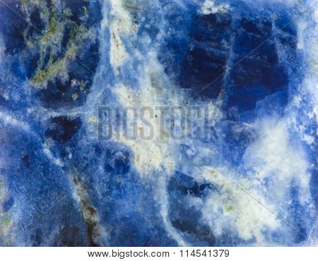 Surface Of Sodalite Natural Mineral Gem Stone