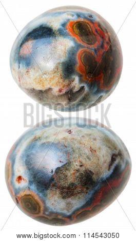 Two Ocean (orbicular) Jasper Gemstones Isolated
