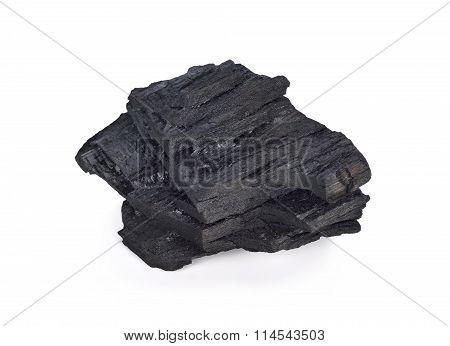 Coal On Isolated White Background