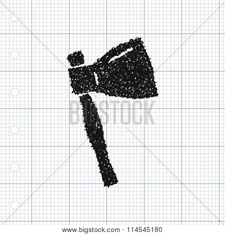 Simple Doodle Of An Axe