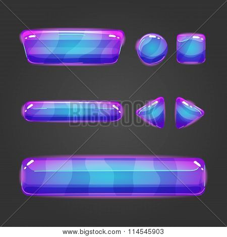 Set Of Vector Button For Game Design - 8