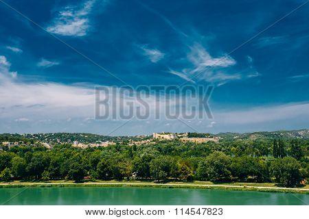 Scenic view of Castle Villeneuve les Avignon, France