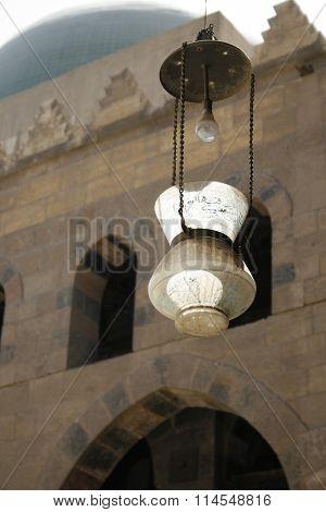 old rusty lamp