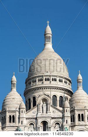 Basilica of the Sacre Coeur on Montmartre Paris France