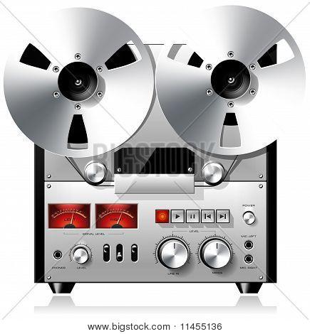 Vintage reel-to-reel tape recorder deck