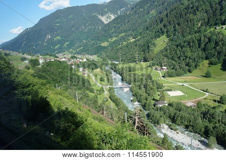 In the valley of the Anterior Rhine