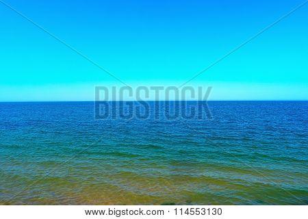 Scenic Sea And Blue Sky