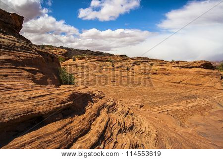 Red Rock Sandstone in Glen Canyon, Page, Arizona