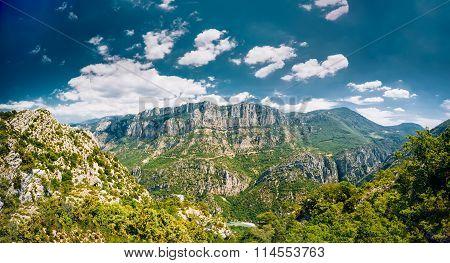Beautiful landscape of the Gorges Du Verdon in France