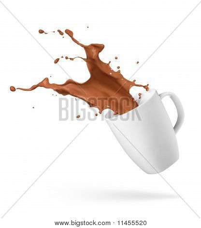 Chocolate Drink Splash
