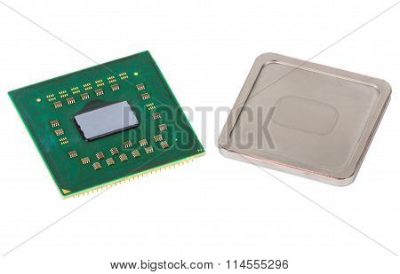 Disassembled Cpu, Metallic Cover Is Removed