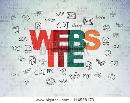 Web design concept: Website on Digital Paper background
