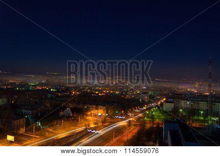 night view of Chisinau city