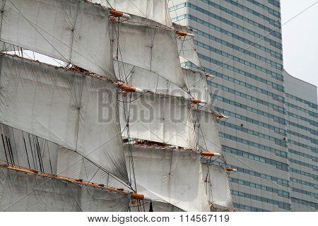 Nippon maru sailing ship in yokohama Japan