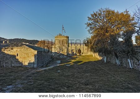 Ruins of  Byzantine fortress in Kavala, East Macedonia and Thrace