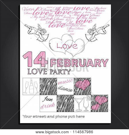 invitation for Valentine day