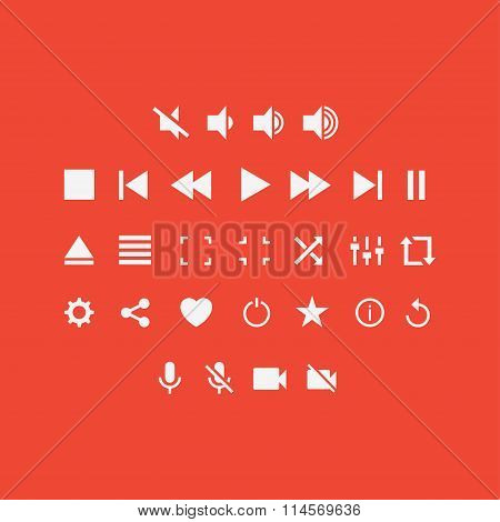 Player Buttons vector set