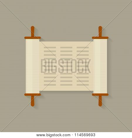 Torah Scroll vector illustration