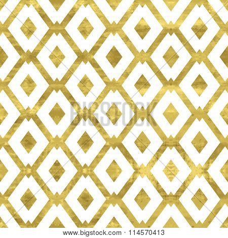 Gold and white shiny pattern