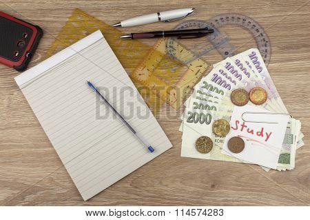 Financing university studies in Czech Republic. Money saved on the study.