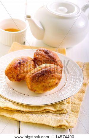 Orange Cardamom Madeleines Cookies
