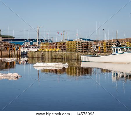 ice in a harbor