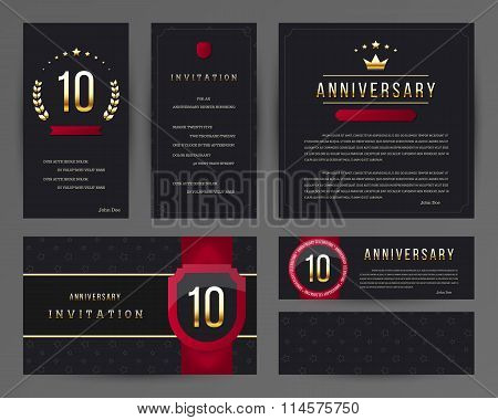 10th anniversary invitation cards template.