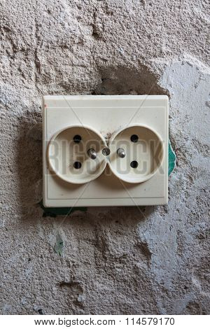 Dual Socket On The Wall.
