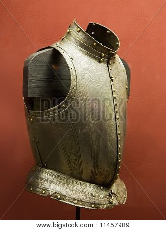 Knight's Breastplate In Valletta Palace