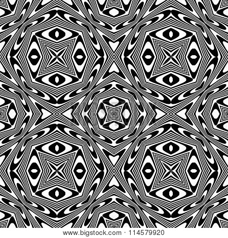 Monochrome ethnic pattern