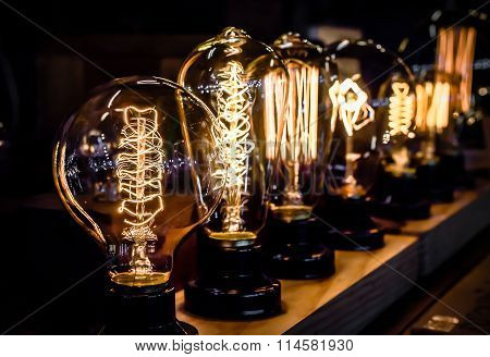 Vintage tungsten light bulbs