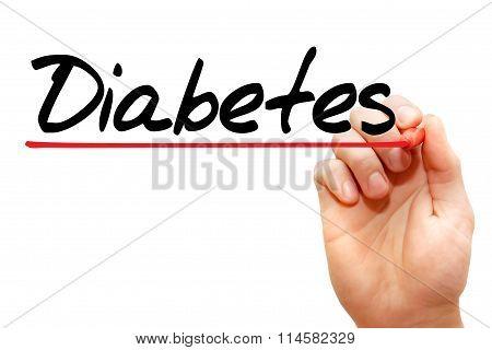 Hand Writing Diabetes, Concept