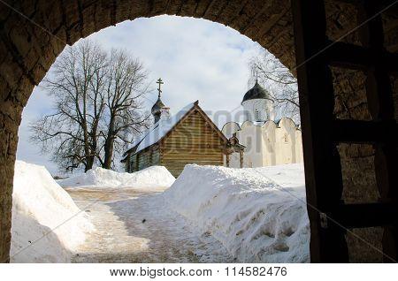 Ancient Church and  fortress Staraya Ladoga.
