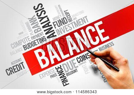 BALANCE word cloud business concept, presentation background