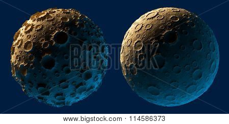 Moon planet asteroid isolated