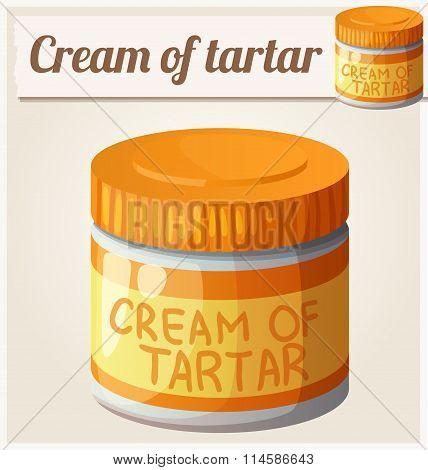 Cream of tartar. Detailed Vector Icon