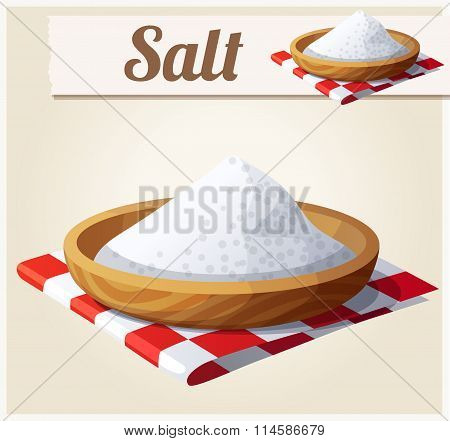 Salt. Detailed Vector Icon