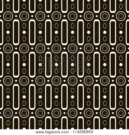 Abstract Seamless Pattern Of Circles And Hoops