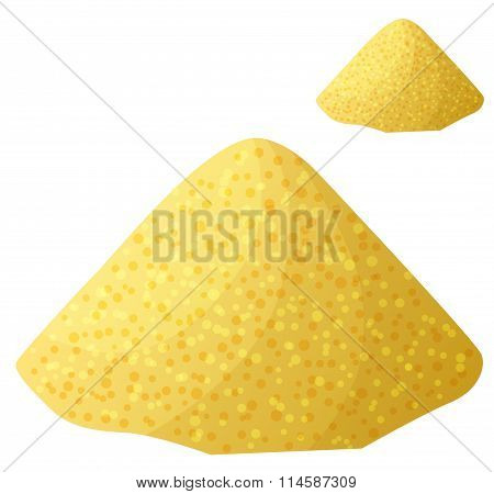 Cornmeal isolated on white background. Detailed Vector Icon
