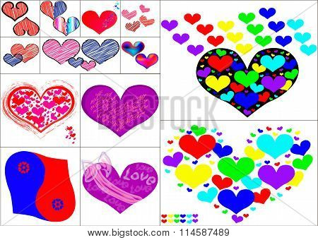 Hearts Symbol Art Set