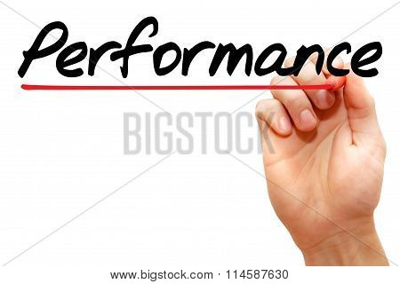 Hand Writing Performance, Business Concept..