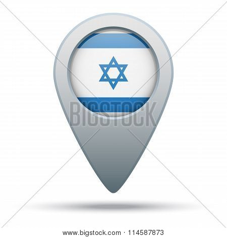 Israel map pointer