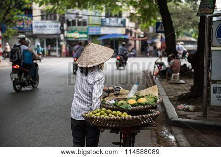 Vendor Selling Fruits