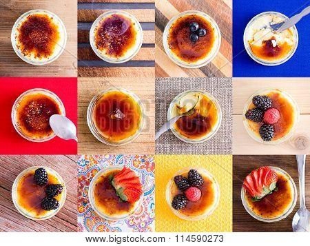 Delicious custard creme dessert variations