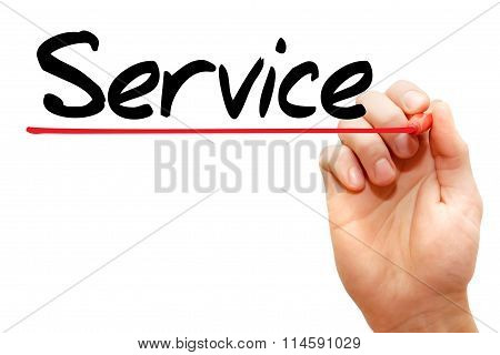 Hand Writing Service, Business Concept..