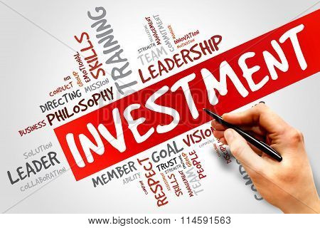 INVESTMENT word cloud business concept, presentation background