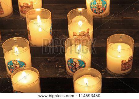 Paris, France - December 17, 2011: Candles In Notre-dame De Paris