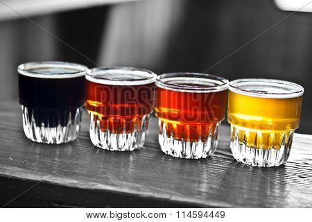4 glasses of beer