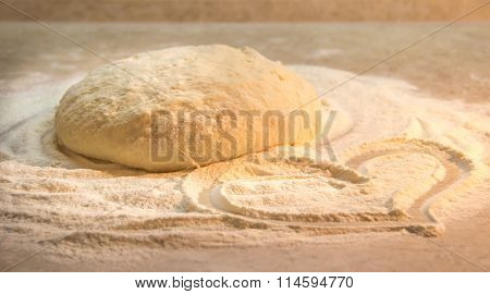 Yeast dough for baking bread