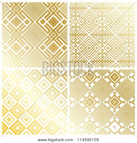 ROYAL GOLD GEOMETRIC PATTERN BACKGROUND. Editable and repeatable vector file. For fashion, prints,textile, branding projects, craft, website design and more...